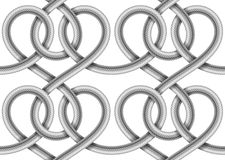 Vector seamless pattern of  braided cable Royalty Free Stock Photo