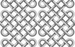 Vector seamless pattern of  braided cable Royalty Free Stock Image