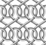 Vector seamless pattern of  braided cable Royalty Free Stock Photography