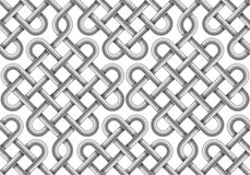 Vector seamless pattern of  braided cable Stock Image