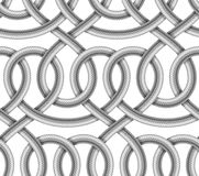 Vector seamless pattern of  braided cable Stock Photos