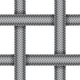 Vector seamless pattern of braided cord Royalty Free Stock Images