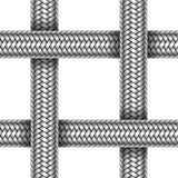 Vector seamless pattern of braided metal cable Royalty Free Stock Photo