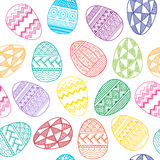 Vector Seamless pattern bright Easter eggs Royalty Free Stock Photo