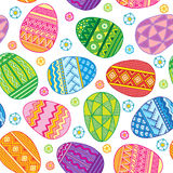 Vector Seamless pattern bright Easter eggs Royalty Free Stock Image