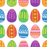 Vector Seamless pattern bright Easter eggs Stock Photography