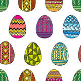 Vector Seamless pattern bright Easter eggs Royalty Free Stock Photos