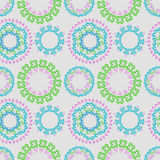 Vector seamless pattern with bright floral ornament. Vintage design element in Eastern style. Royalty Free Stock Photography