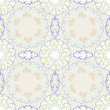 Vector seamless pattern with bright floral ornament. Vintage design element in Eastern style. Royalty Free Stock Image