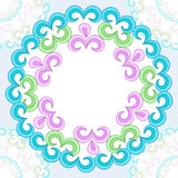 Vector seamless pattern with bright floral ornament. Vintage design element in Eastern style. Royalty Free Stock Photos