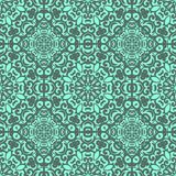 Vector seamless pattern with bright green ornament. Tile in Eastern style. Ornamental lace tracery. Stock Image