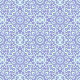 Vector seamless pattern with bright lilac ornament. Tile in Eastern style. Ornamental lace tracery. Royalty Free Stock Images