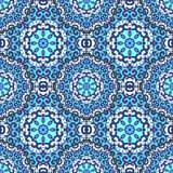 Vector seamless pattern with bright ornament Stock Image
