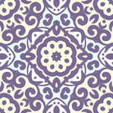 Vector seamless pattern with bright ornament. Tile in Eastern style. Royalty Free Stock Photography