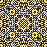 Vector seamless pattern with bright ornament. Tile in Eastern style. Stock Image