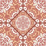 Vector seamless pattern with bright ornament. Tile in Eastern style. Ornamental lace tracery. Stock Photo