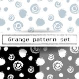 Vector seamless pattern with brush stripes and strokes. Black color on white background. Hand painted grange texture. Ink geometric elements. Fashion modern Royalty Free Stock Image