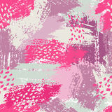 Vector seamless pattern with brush stripes and strokes. Pink blue violet color. Background. Hand painted grange texture Royalty Free Stock Photography