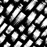 Vector seamless pattern with brush stripes and strokes. White color on black background. Hand painted grange texture. Ink geometric elements. Fashion modern stock illustration