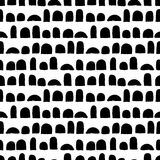 Vector seamless pattern with brush strokes. Black color on white background. Hand painted grange texture. Ink geometric. Elements. Fashion modern style. Endless royalty free illustration