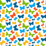 Vector seamless pattern with butterflies. Royalty Free Stock Photos