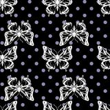 Vector seamless pattern of butterflies Stock Images