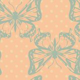 Vector seamless pattern of butterflies Royalty Free Stock Photography