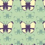 Vector seamless pattern of butterflies Stock Image