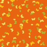 Vector seamless pattern with butterflies Royalty Free Stock Photo