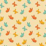 Vector seamless pattern with butterflies. Retro seamless pattern with butterfly. Vintage design. Vector illustration. Background in flat style Stock Photos