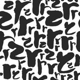 Vector Seamless Pattern with Calligraphy Letters R Royalty Free Stock Image