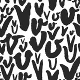 Vector Seamless Pattern with Calligraphy Letters V Royalty Free Stock Images
