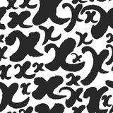 Vector Seamless Pattern with Calligraphy Letters X Stock Photos