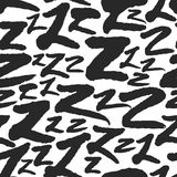 Vector Seamless Pattern with Calligraphy Letters Z Stock Photos