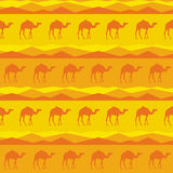 Vector seamless pattern, camels Stock Photography