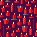 Vector seamless pattern of a candles Stock Photography