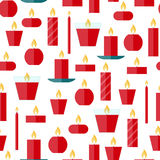 Vector seamless pattern of a candles Stock Photos