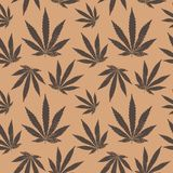 Vector seamless pattern of cannabis leaf Stock Photography