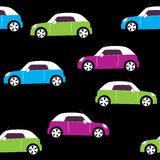 Vector seamless pattern with cars Royalty Free Stock Image