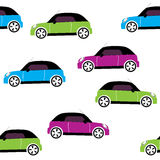 Vector seamless pattern with cars Royalty Free Stock Photography