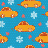 Vector seamless pattern of cars Royalty Free Stock Photo