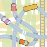 Vector seamless pattern with cars. Royalty Free Stock Photo