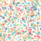 Vector seamless pattern with cat or dog footprints Stock Images