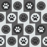 Vector seamless pattern with cat or dog footprints.  Stock Images