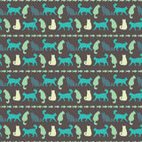 Vector seamless pattern with cats Stock Image