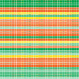 Vector seamless pattern with checkered texture. Abstract bright backdrop. Geometrical background.  Bright template. Orange, yellow and green colors Stock Image