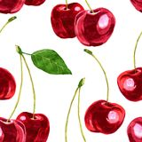 Vector seamless pattern with cherry Royalty Free Stock Images