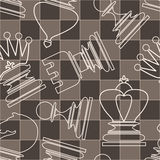 Vector seamless pattern with chess piece Stock Photography