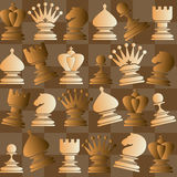 Vector seamless pattern with chess piece Royalty Free Stock Image