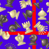 Vector seamless pattern with chess piece Royalty Free Stock Photo